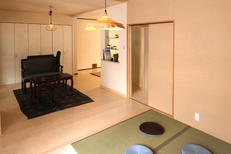 土間、畳、文机など日本の暮らしやすさを 取り入れた、3LDKの一軒家